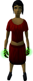Cinderbane gloves equipped