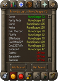 Friends List interface old4