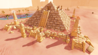 Pyramid top location