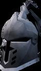 Steel heraldic helm (Skull) detail