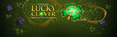 Lucky Clover necklace head banner