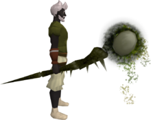 Noxious staff (barrows) equipped