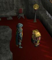 Um jogador falando com Veldaban