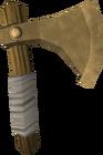 Bronze throwing axe detail