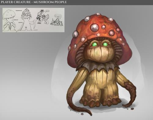 Mushroom People concept art