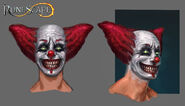 Sinister clown face male concept art
