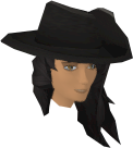 Musketeer's hat (blue, female) chathead