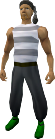 Pirate clothing (grey) equipped