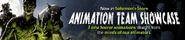 Animation team showcase lobby banner