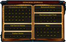 Dungeon journal