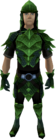 Green dragonhide armour (male) equipped