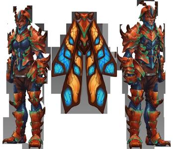 Kalphite Sentinel Outfit concept art