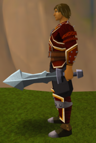 Off-hand iron ceremonial sword III equipped