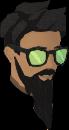 Sunglasses (green) chathead