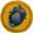 Wreath shield token detail