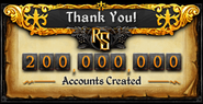 200M Accounts Created