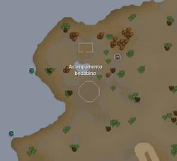 Acampamento Bedabino mapa