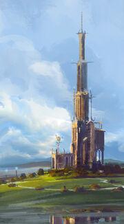 Arte Conceitual da Torre dos Magos.