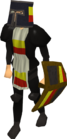 Black heraldic armour set 2 (lg) equipped old