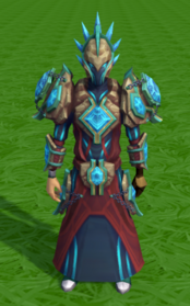 Elite tectonic armour equipped