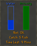 Fishing Trawler status interface