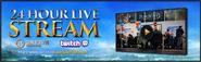Gameblast 2015 24 hour stream lobby banner