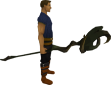 Mud battlestaff equipped