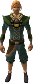 Shining alchemist's amulet equipped