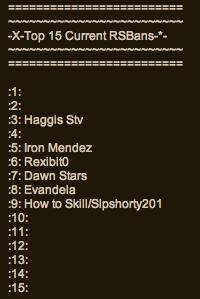 Top15rsbans