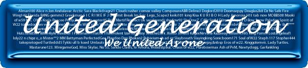 United Generation Banner