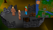 Entrance to Entrana dungeon
