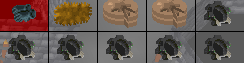 Many Black Cogs Glitch