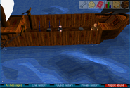 Fishing trawler leaks
