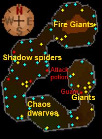 Deep Wilderness dungeon map