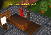 Player talking to bob