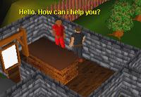 Player talking to bob