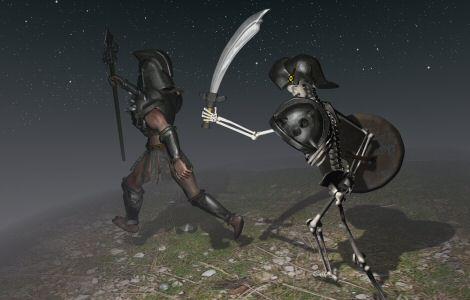Dark knight running