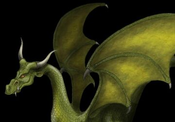 Cropped green dragon