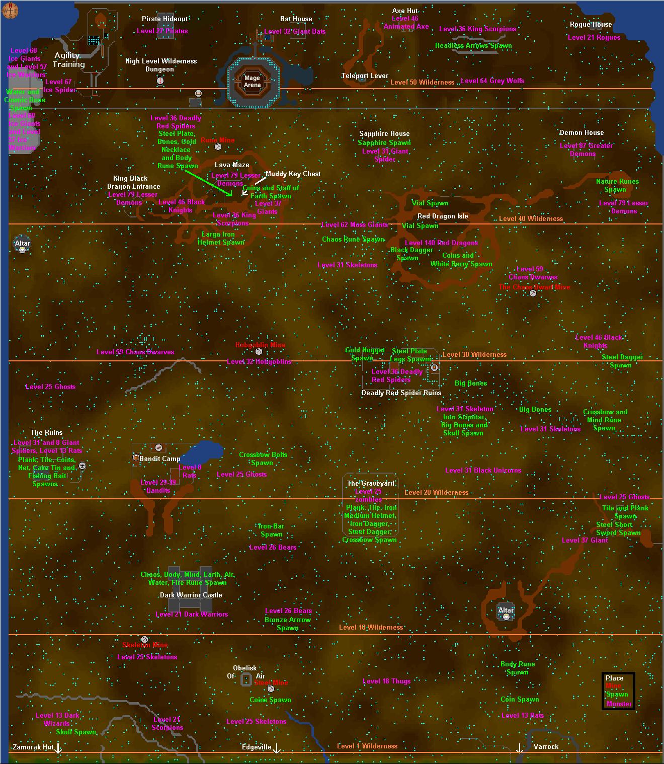Wilderness Runescape Classic Wiki Fandom Powered By Wikia