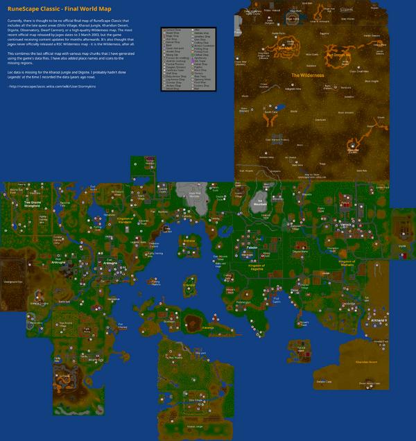 Delightful RuneScape Classic Map