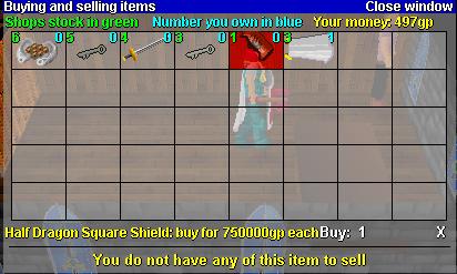 Legends' Guild Shop stock