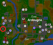 Teleport House map (Ardougne)