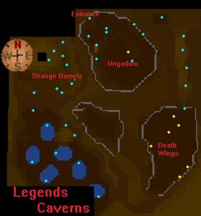 Legends caverns map