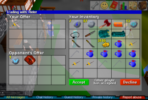 First trade screen