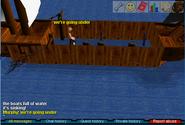 Fishing trawler sinking ship