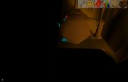 Underground boulder stuck