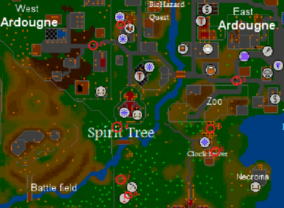 Ardougne sewers entrances map