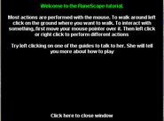 Welcome to Runescape tutorial