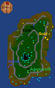 Crandor mine map