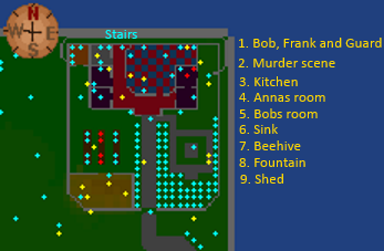 Sinclair Mansion map 1